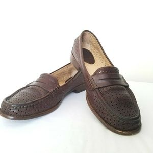 Frye Loafer Dalia Perforated Penny 8.5 Brown